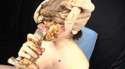 喉も膣も糞まみれ 脱糞食糞オナニーサンプル22