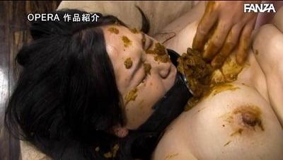 醜い糞顔を踏みつけ、口に糞塊をブチ込む!食糞アナル糞小便調教サンプル15