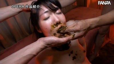 スカトロ×SM【M女】喉奥までウンコを詰め込む食糞拷問!サンプル14