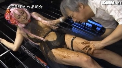 【朝桐光】がコスプレイヤー!監禁スカトロ凌辱で大量の糞尿排泄サンプル16