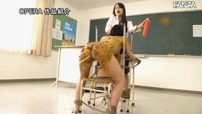 学校の教室で【緊縛×SM×浣腸】の過激レズスカ糞奴隷調教!サンプル24
