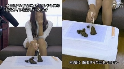 和式トイレ透明便器と洋式トイレ透明便器で脱糞排泄姿を見せる女サンプル12