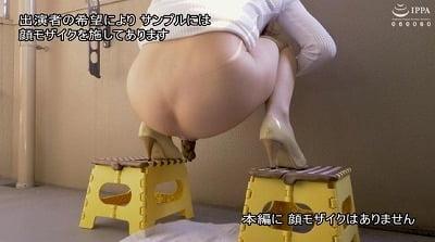 和式トイレ透明便器と洋式トイレ透明便器で脱糞排泄姿を見せる女サンプル8