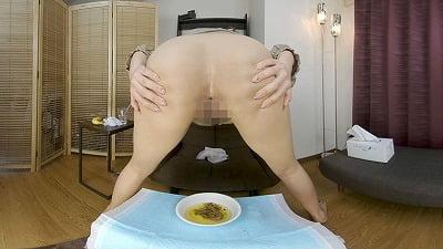 主観対面で美人が排泄(放尿&脱糞)姿を見せてくれるVR動画サンプル4