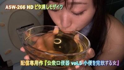 男のオシッコを飲む女3作目【公衆口便器】小便専用人間便器女サンプル5